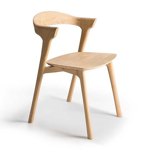 Ethnicraft chaise BOK chêne, teck ou noir