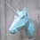 Thumbnail: Licorne en papier vert menthe