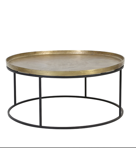 Table de salon Ø89x42 cm or vieilli