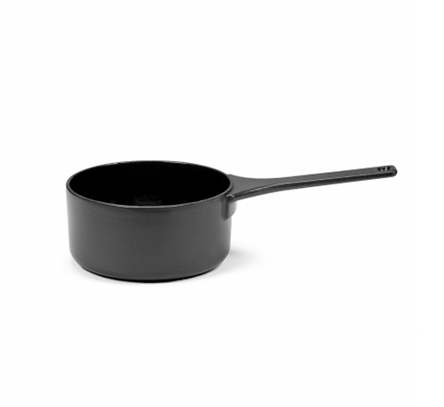 SURFACE SAUCE PAN ENAMEL CAST IRON BLACK D17 - 1,3L