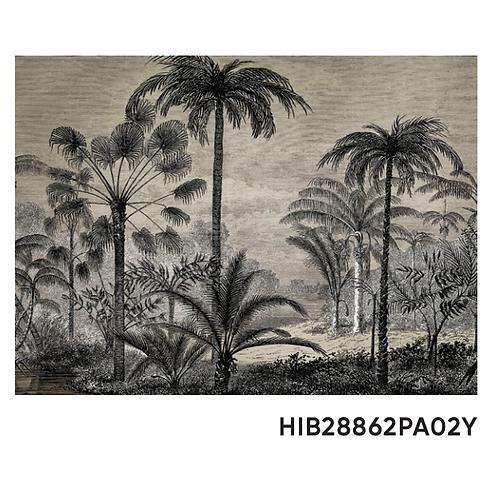 Set de table 33cm x 45cm - Palmier noir & blanc