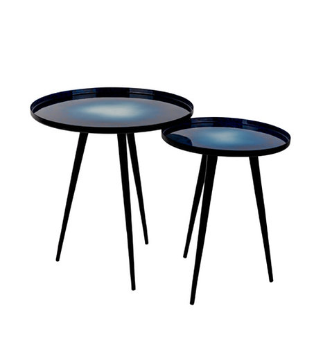 ZUIVER tables basses Duo Moon Blue