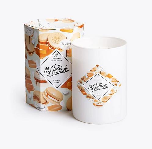 My Jolie Candle - Macaron Caramel - AVEC BIJOU