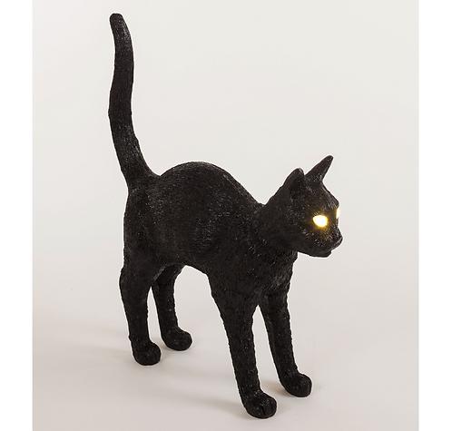 "Seletti Lampe sans fil ""Jobby the cat"" Noir"