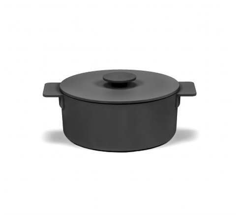 SURFACE POT ENAMEL CAST IRON BLACK D23 - 3L