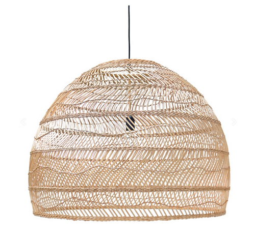 HKliving - wicker pendant lamp ball XL