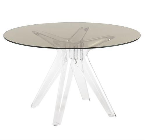 Table ronde Sir Gio Verre 120 cm Kartell