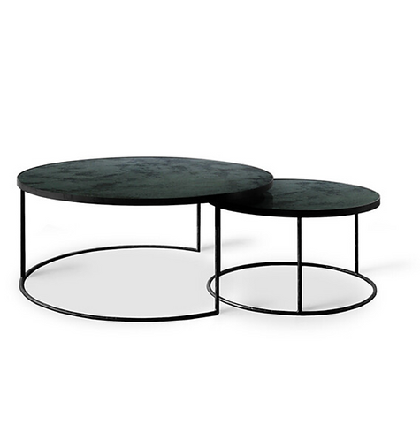 Etnicraft Charcoal Nesting coffee table set