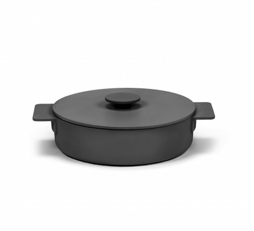 SURFACE CASSEROLE ENAMEL CAST IRON BLACK D26 - 2,6L
