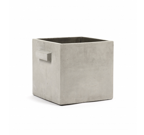 SERAX FLOWER POT L L26 X W26 X H26 CM GREY