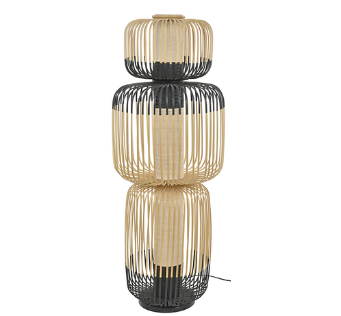 Lampadaire Totem Bamboo Light - 3 abat-jours Forestier
