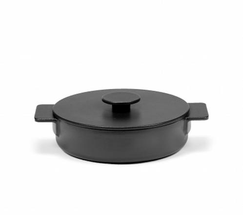 SURFACE CASSEROLE ENAMEL CAST IRON BLACK D23 - 1,7L