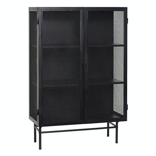Hübsch - vaisellier armoire métal noir