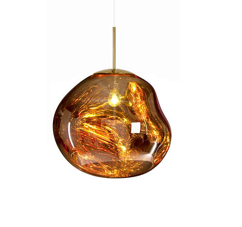 Suspension Melt gold / Ø 50 cm - Tom Dixon