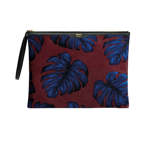 Leaves Velvet XL Clutch - WOUF