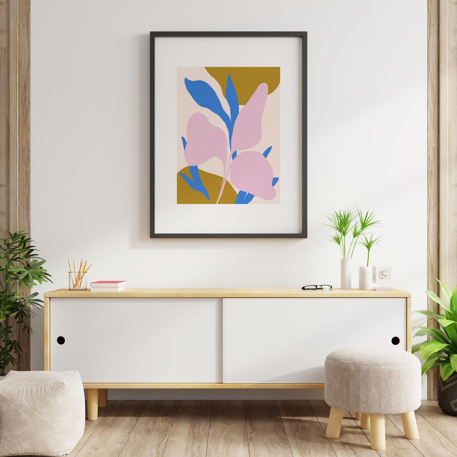 Floral Periwinkle Print