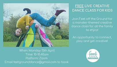 FREE LIVE CREATIVE DANCE CLASS FOR KIDS.
