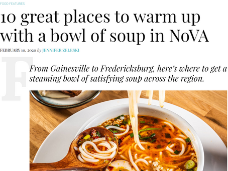 10 great places to warm up with a bowl of soup in NoVA