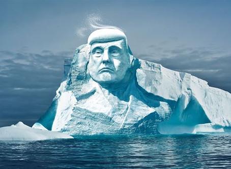 Περιβαλλοντολόγοι θα σκαλίσουν τη μορφή του Τραμπ σε παγόβουνο της Αρκτικής