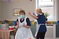 Staff dancing