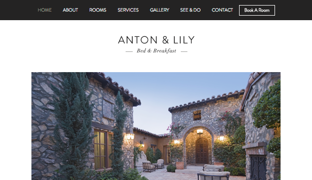 Hotels & Pensionen website templates – Bed & Breakfast