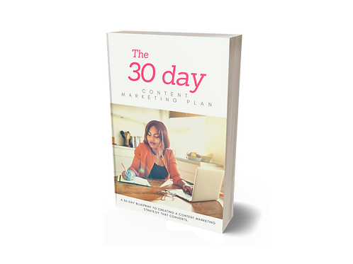 The 30 Day Content Marketing Plan