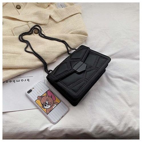 Vintage Small Rivet Flap Chain Shoulder Messenger Crossbody Bags