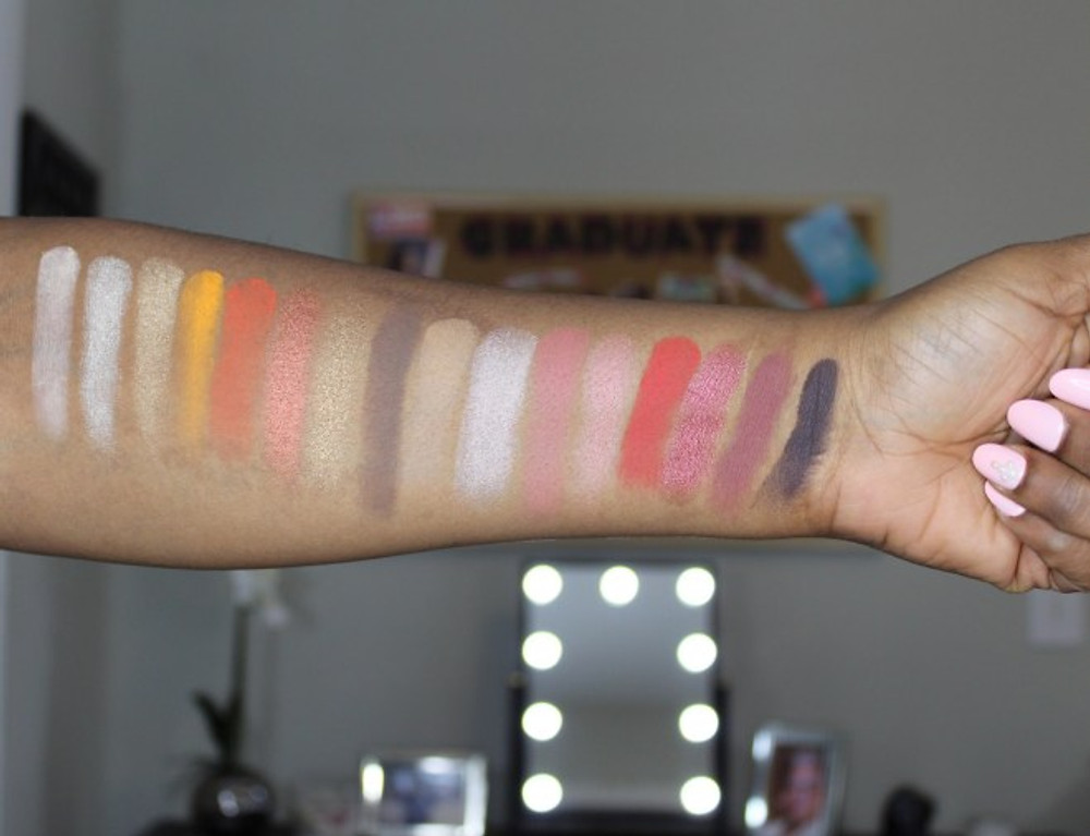 The James Charles Morphe Palette Swatches