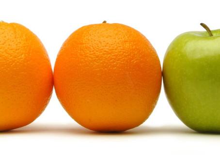 Apples to Oranges!