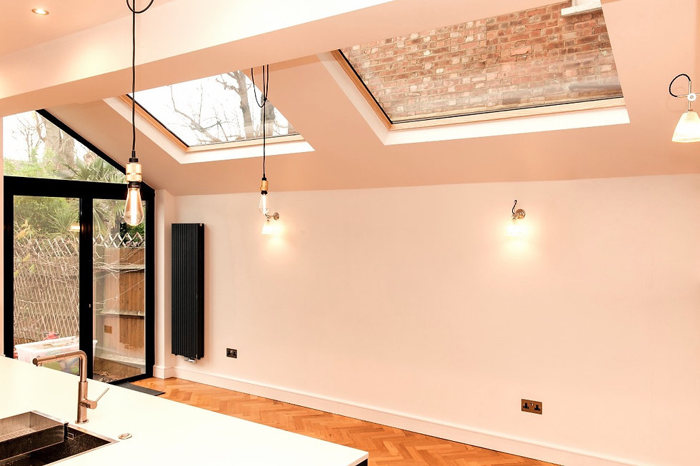 Skylights for kitchen extension