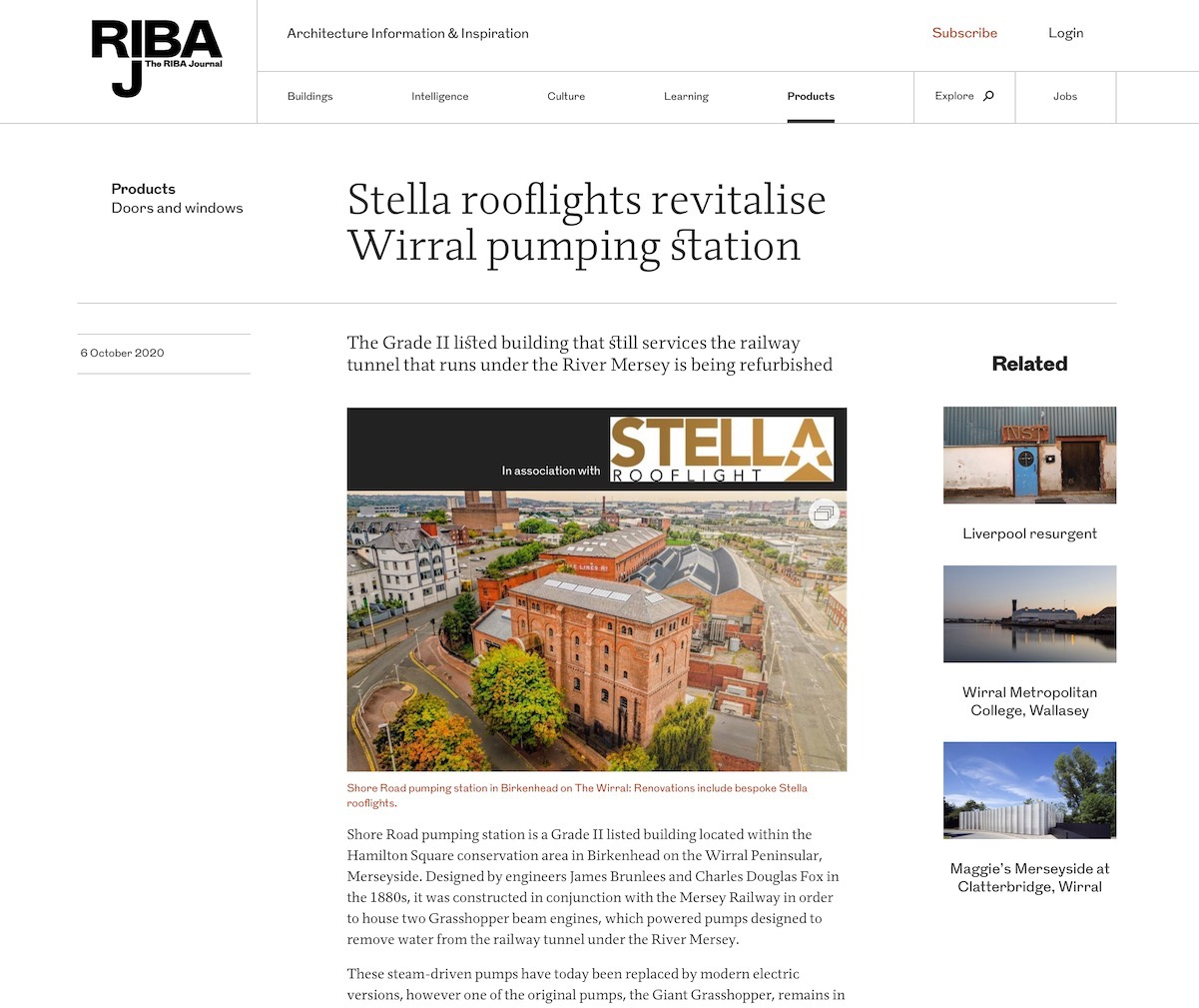 RIBA Journal Stella Rooflight