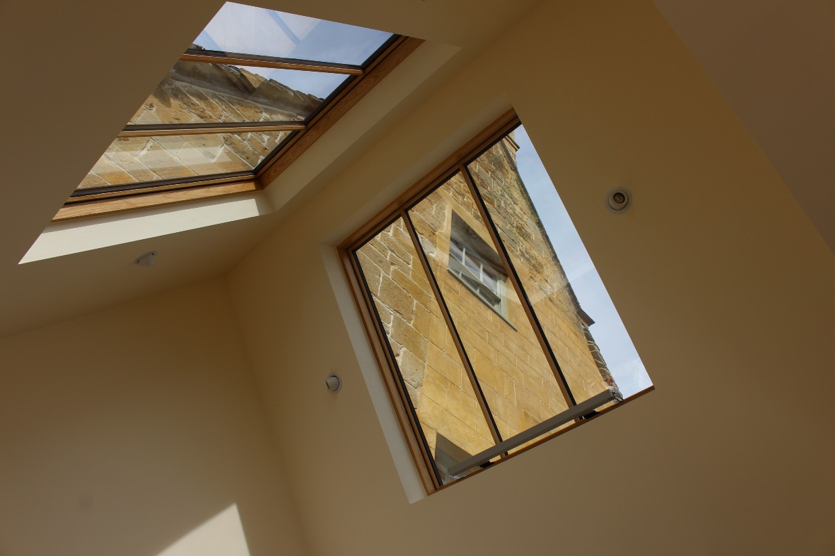 rooflight with solid harwood liners