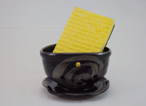 Sponge Holder - Black with Rutile design