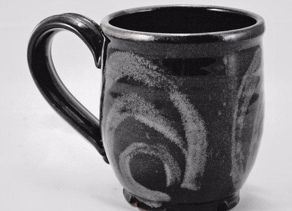 Mug - Black with Rutile design