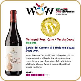 Italian Wine Competition Tenuta Cucco.pn