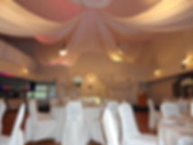 Wedding hall ceiling decoration and lighting
