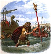Illustration of the Romans landing in Br