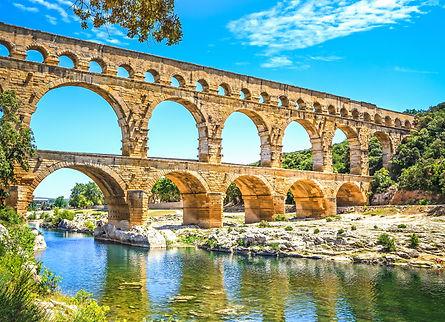 Greco-Roman Bridges, Roads, Aqueducts and Architecture- Temples, Amphitheatres, Theatres, Colosseum, Pont-du-gard, Theatre, Epidaurus, Greece