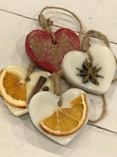 Christmas Scented Heart Decorations