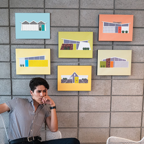 House wall canvases
