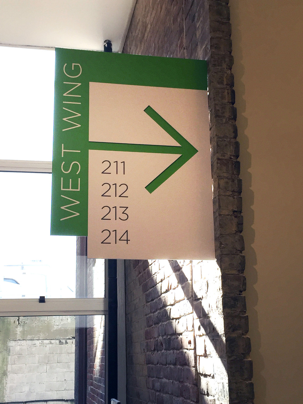 West Wing signage