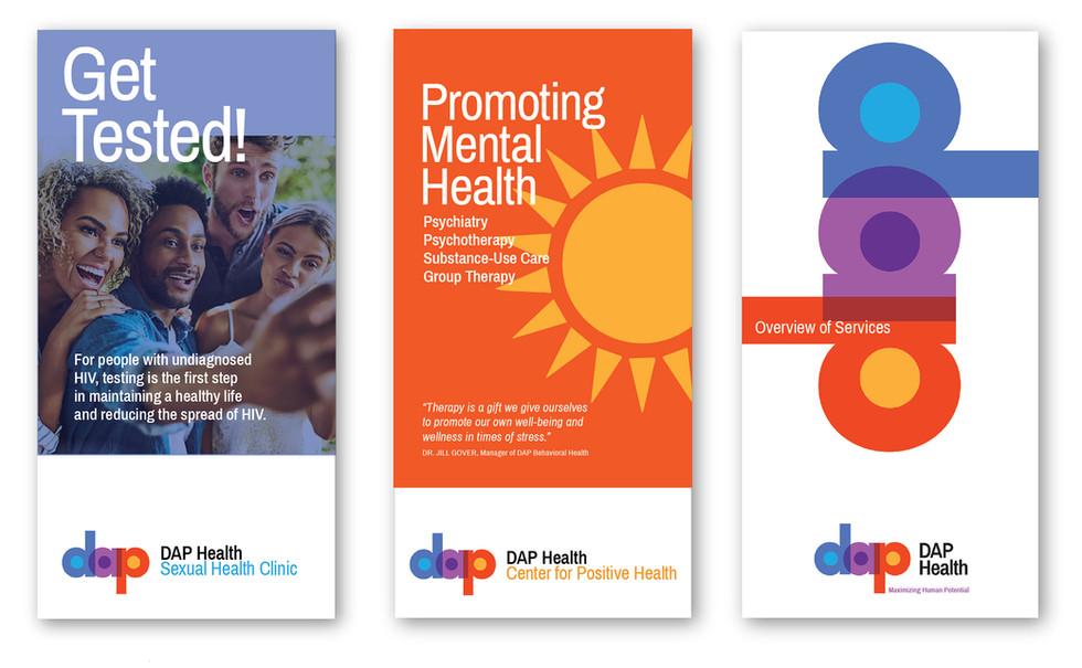 Sample brochure covers