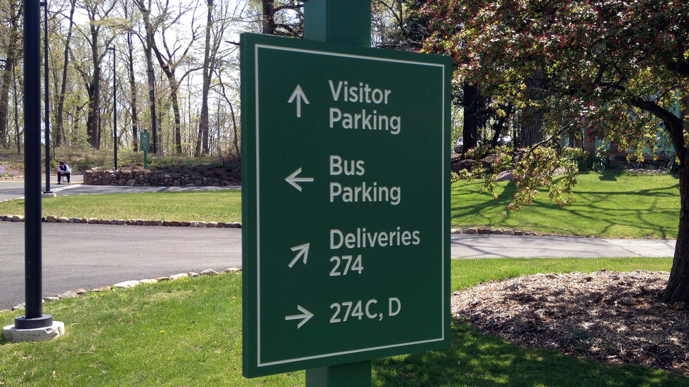 Road directional sign