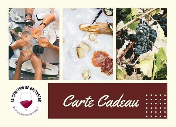 Carte Cadeau - Accords Vins et Fromages