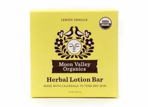 Lemon Vanilla Herbal Lotion Bar