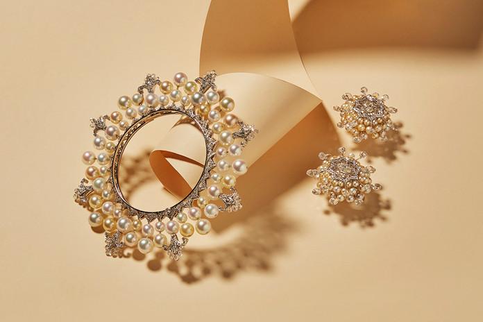Pearl Bangle and Pearl Burst Earrings