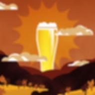illustration, beer, budweiser, sunrise