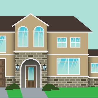 illustration, meritge, home, vector