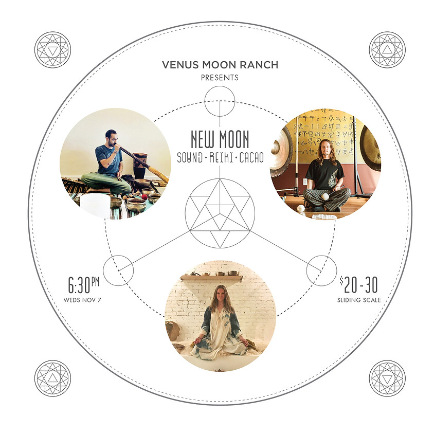 New Moon Sound, Reiki, and Cacao Ceremony