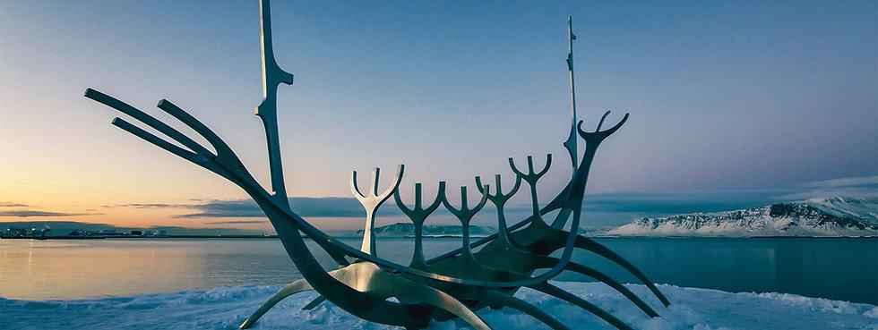 Viking Boat Skulptur